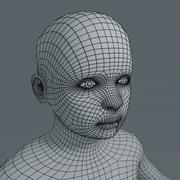 5 year old boy basemesh 3d model