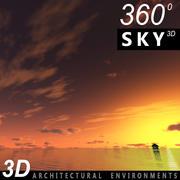 Sky 3D Sunset 014 3d model