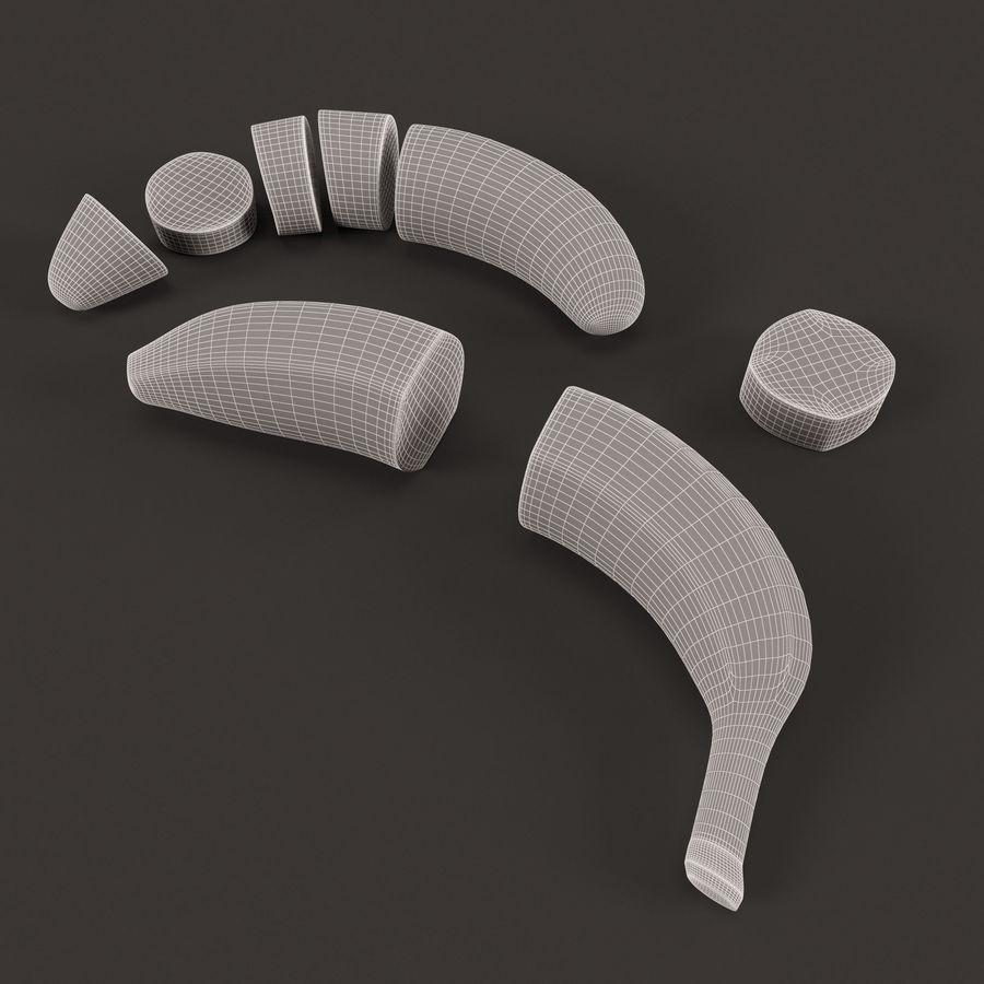 Tagli di banana royalty-free 3d model - Preview no. 4