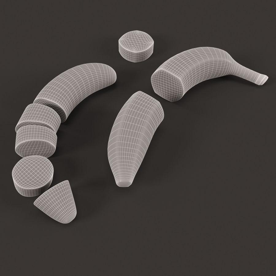 Tagli di banana royalty-free 3d model - Preview no. 6