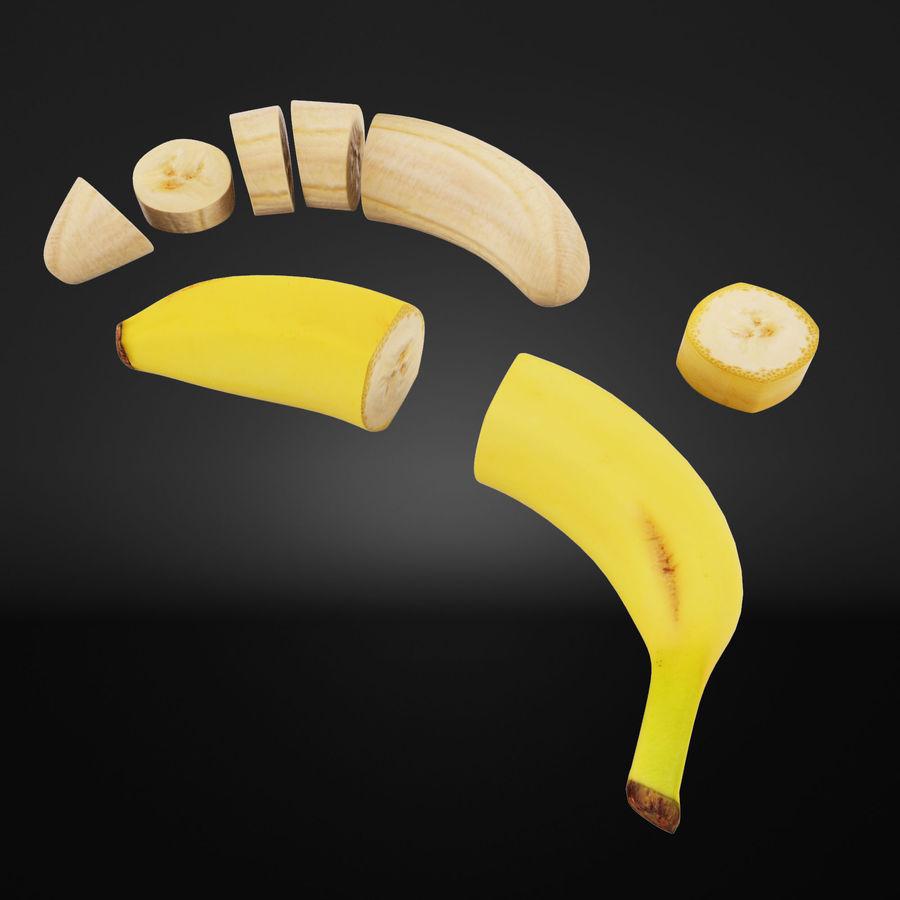Tagli di banana royalty-free 3d model - Preview no. 2