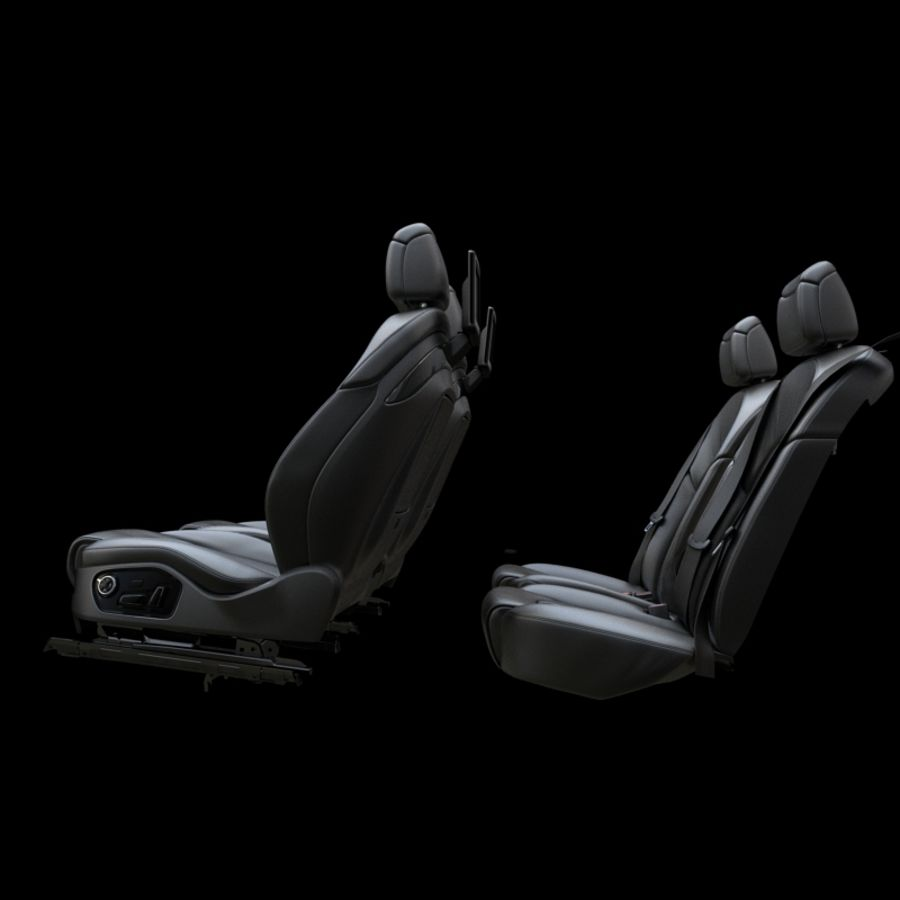 Assento de carro royalty-free 3d model - Preview no. 6