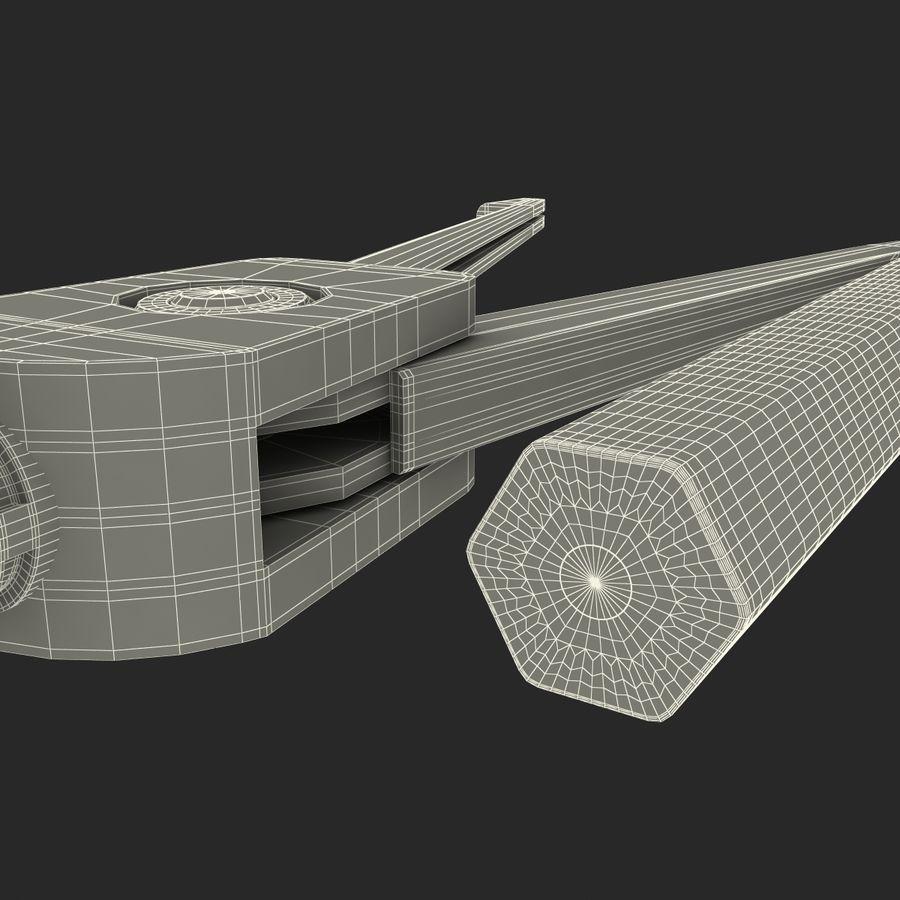 Bússola de desenho com lápis royalty-free 3d model - Preview no. 23