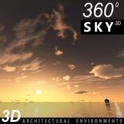 Sky 3D Sunset 040 3d model