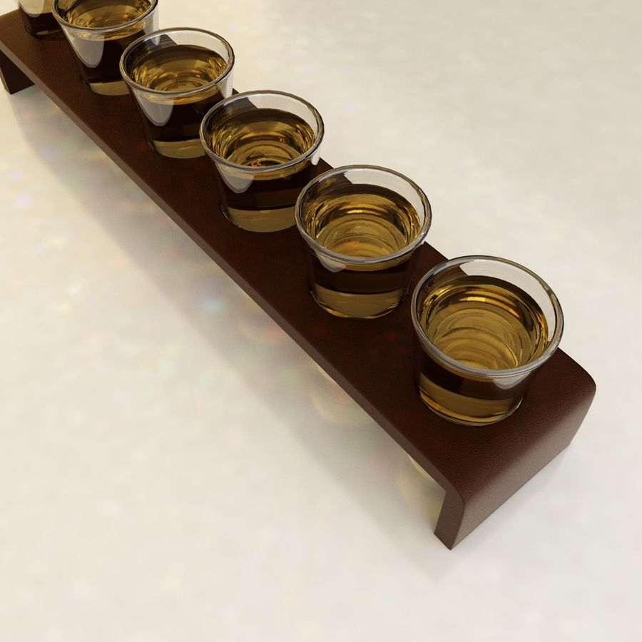 Set tiro Tequilla royalty-free 3d model - Preview no. 3