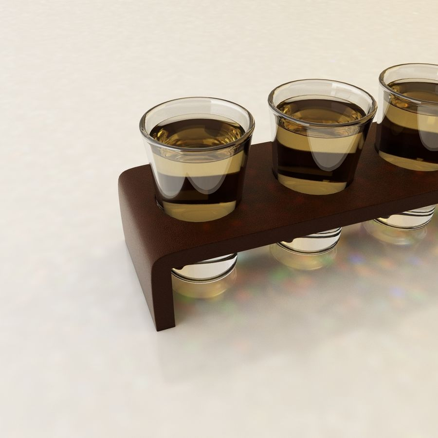 Set tiro Tequilla royalty-free 3d model - Preview no. 4