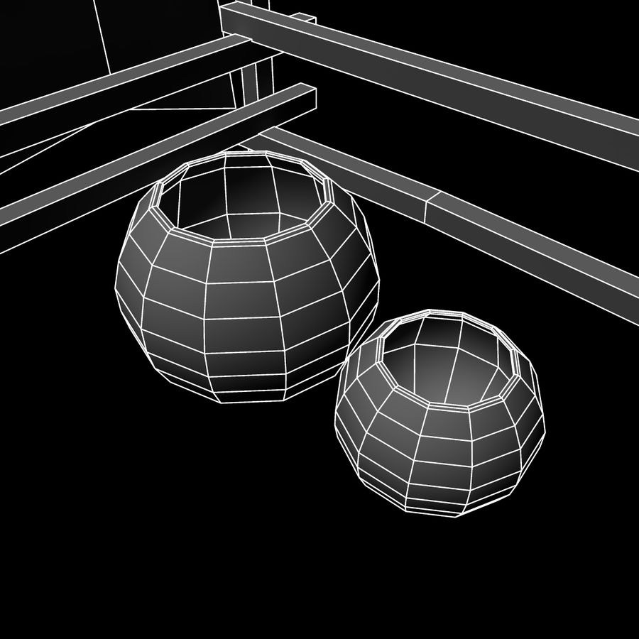 Market Stall royalty-free 3d model - Preview no. 8