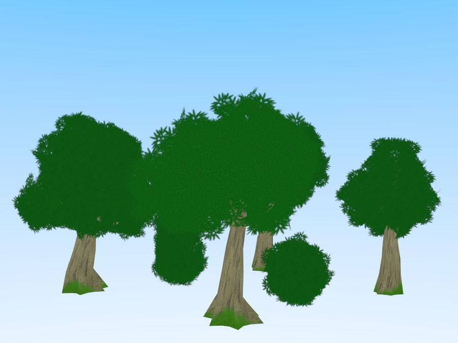 anime / cartoon vegetation royalty-free 3d model - Preview no. 3