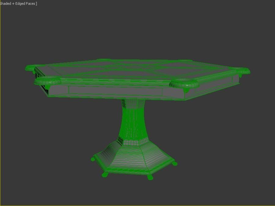 stół do salonu royalty-free 3d model - Preview no. 4