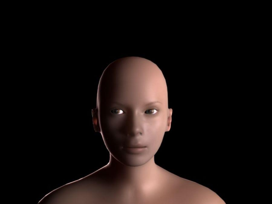 Maglia femminile a base poli bassa royalty-free 3d model - Preview no. 1