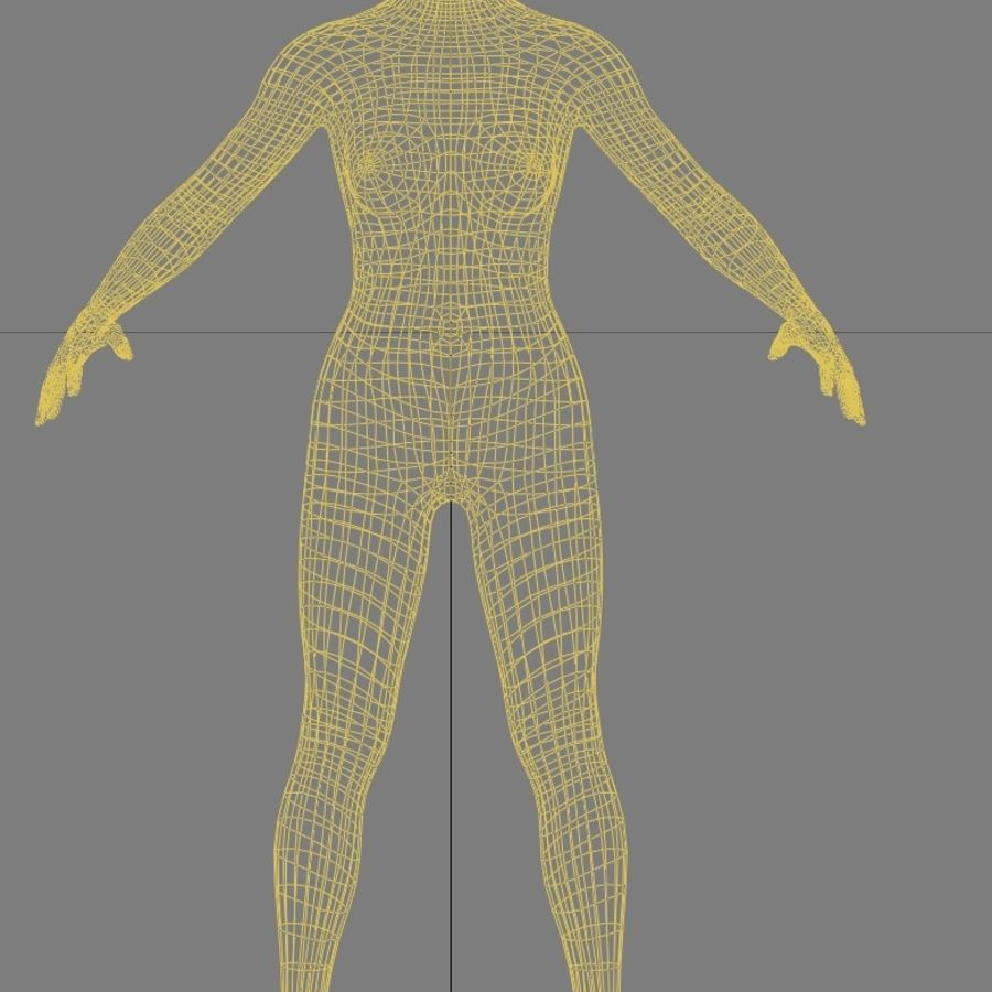 Maglia femminile a base poli bassa royalty-free 3d model - Preview no. 4