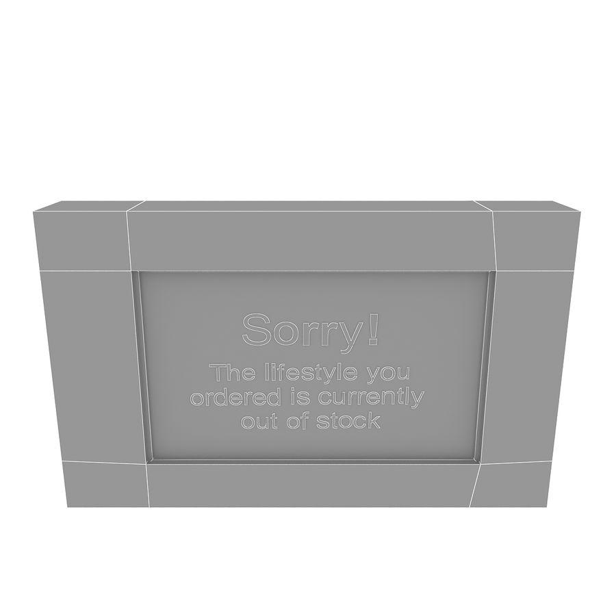 Gammalt tecken royalty-free 3d model - Preview no. 5