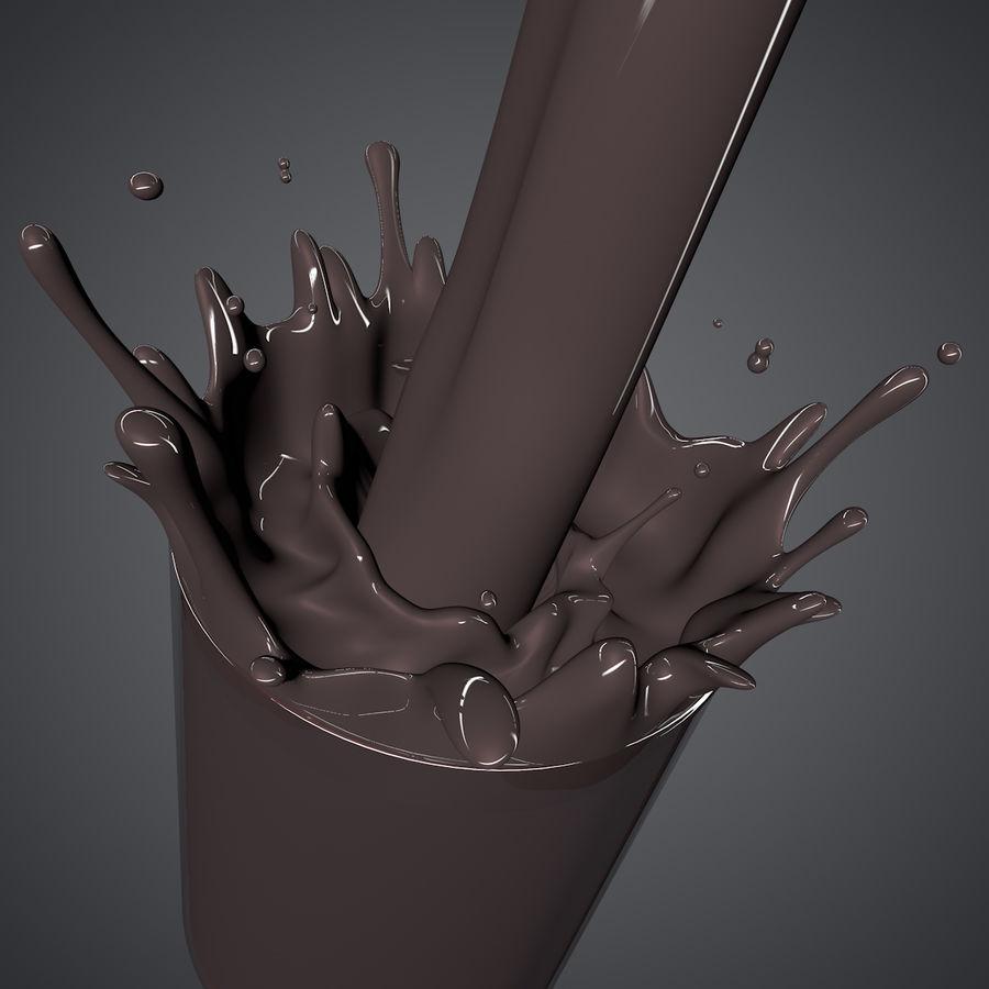 Milk Splash royalty-free 3d model - Preview no. 2