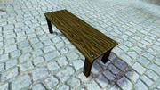 Низкий Поли Деревянный Стол 3d model