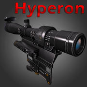 Optisk Sniper Sight Hyperon 3d model