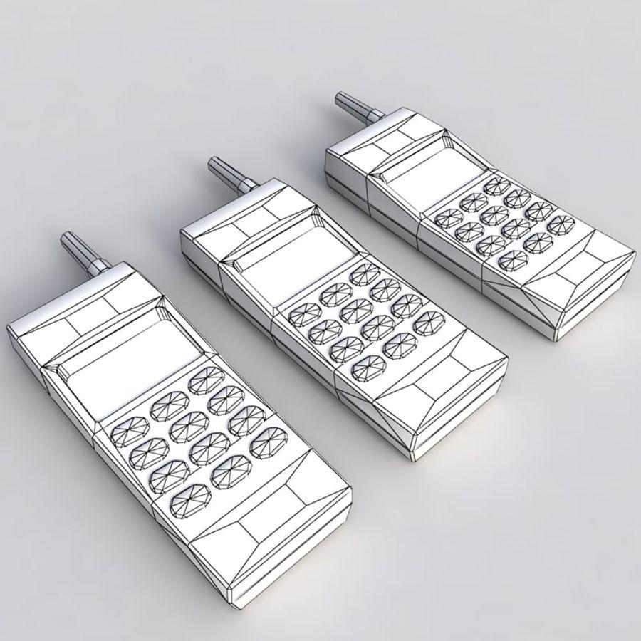 Vecchio telefono cellulare generico royalty-free 3d model - Preview no. 6