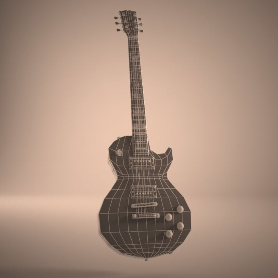 Les Paul Guitar royalty-free 3d model - Preview no. 9