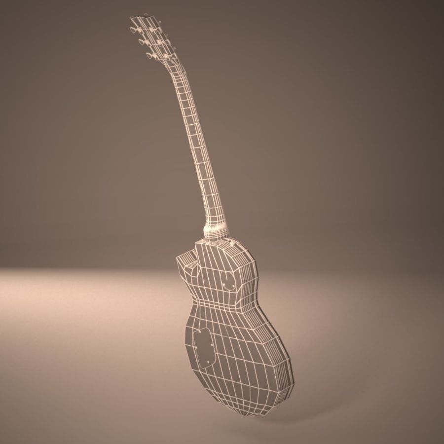 Les Paul Guitar royalty-free 3d model - Preview no. 12