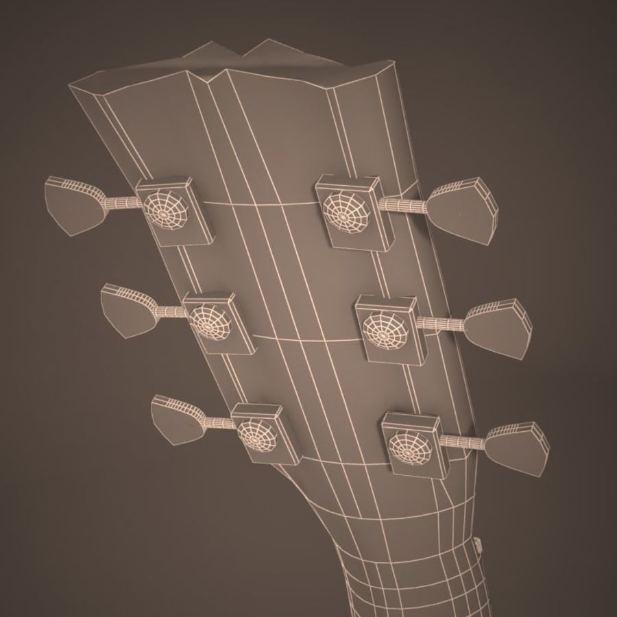 Les Paul Guitar royalty-free 3d model - Preview no. 5