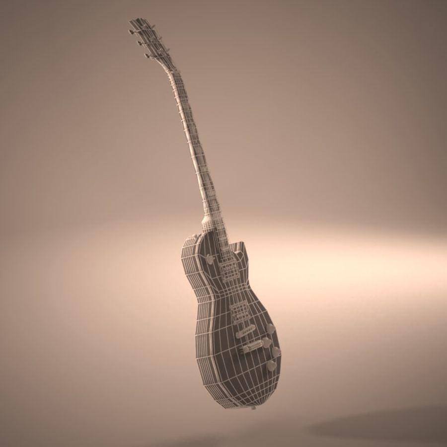 Les Paul Guitar royalty-free 3d model - Preview no. 13