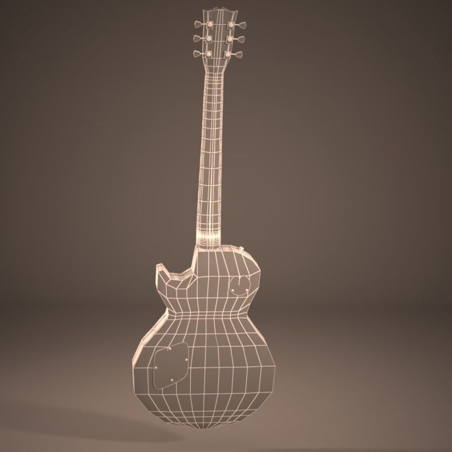 Les Paul Guitar royalty-free 3d model - Preview no. 3