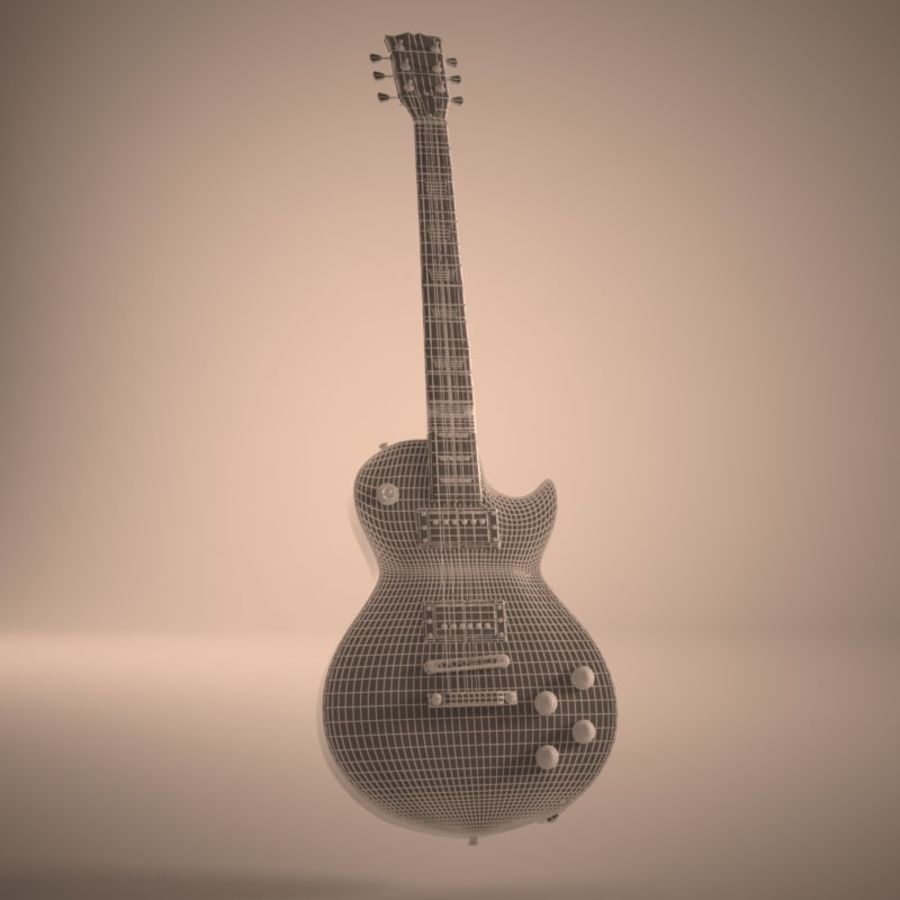 Les Paul Guitar royalty-free 3d model - Preview no. 8
