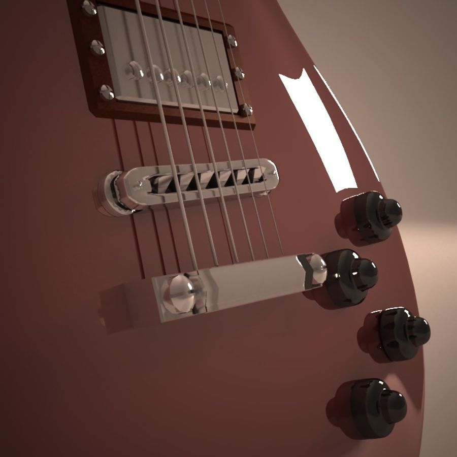 Les Paul Guitar royalty-free 3d model - Preview no. 6