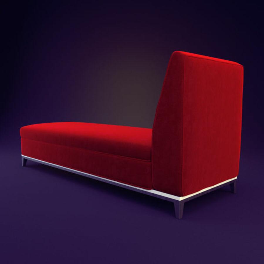 Divan royalty-free 3d model - Preview no. 4