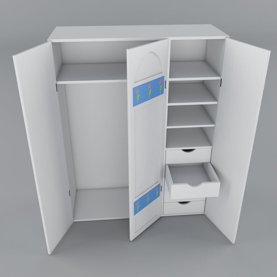 Schrank royalty-free 3d model - Preview no. 2