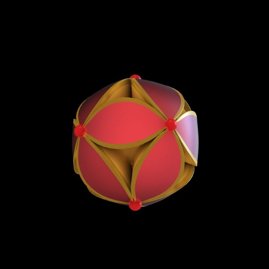 chinesischer Ball royalty-free 3d model - Preview no. 1