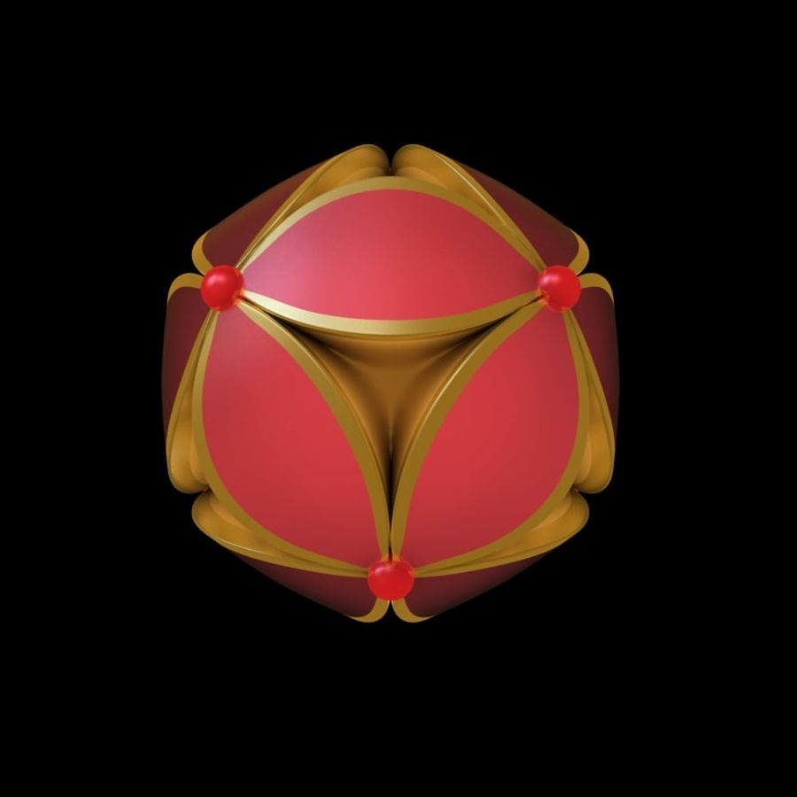 chinesischer Ball royalty-free 3d model - Preview no. 4