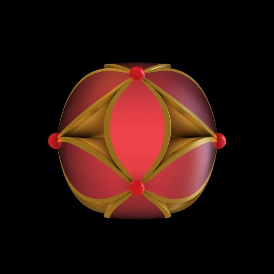 chinesischer Ball royalty-free 3d model - Preview no. 3