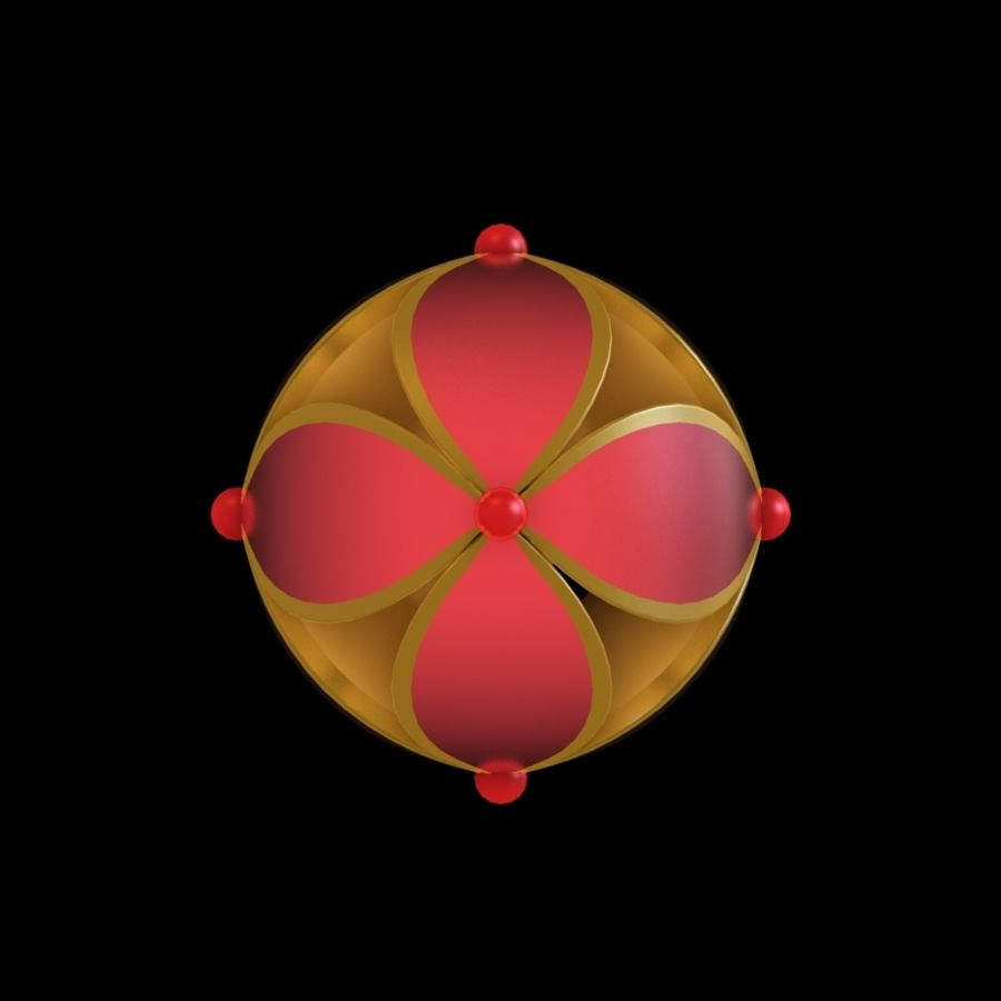 chinesischer Ball royalty-free 3d model - Preview no. 2