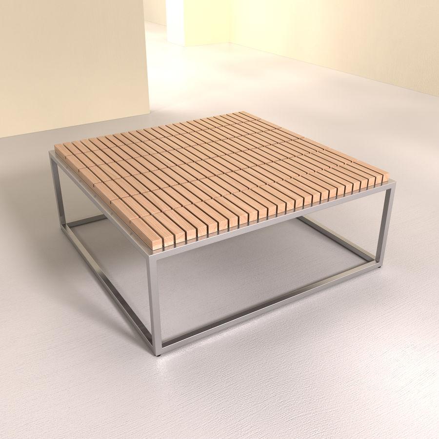 现代咖啡桌 royalty-free 3d model - Preview no. 1