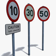 Знаки скорости 3d model