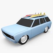 1970 Datsun Wagon 3d model