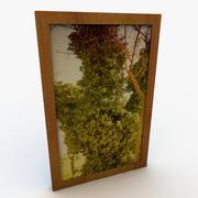 Frame met hedendaagse kunst 3d model