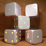 Electronic Glowing Dice Cube 3d model