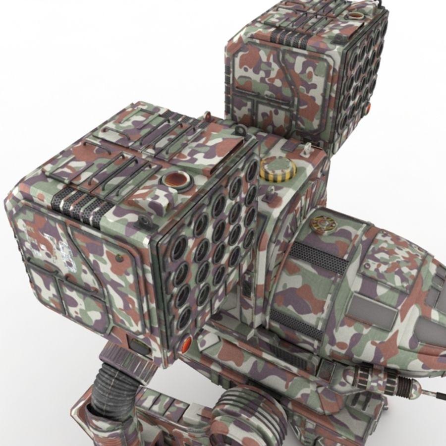 Army Mech Worrior Robot V5 royalty-free 3d model - Preview no. 4