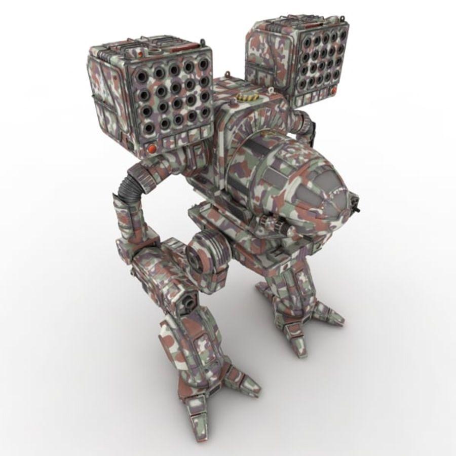Army Mech Worrior Robot V5 royalty-free 3d model - Preview no. 2