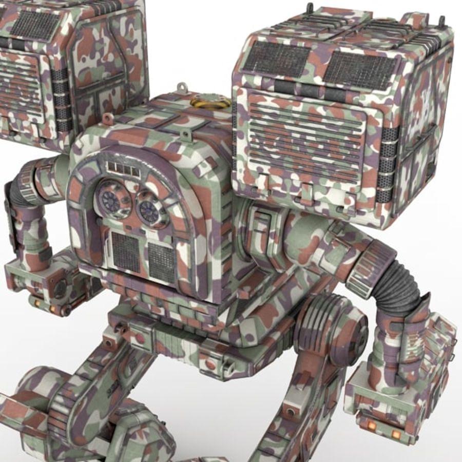 Army Mech Worrior Robot V5 royalty-free 3d model - Preview no. 6
