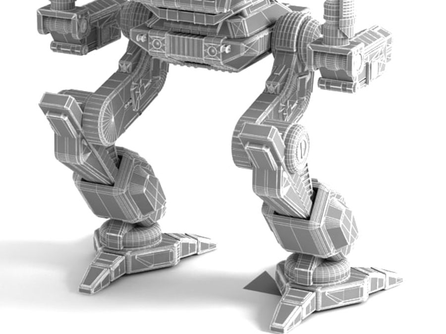 Army Mech Worrior Robot V5 royalty-free 3d model - Preview no. 13
