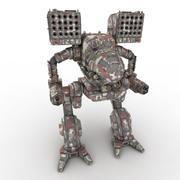 Army Mech Worrior Robot V5 3d model