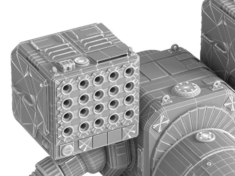 Army Mech Worrior Robot V5 royalty-free 3d model - Preview no. 17