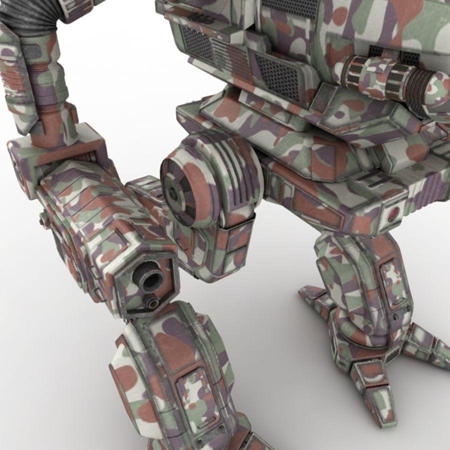 Army Mech Worrior Robot V5 royalty-free 3d model - Preview no. 7