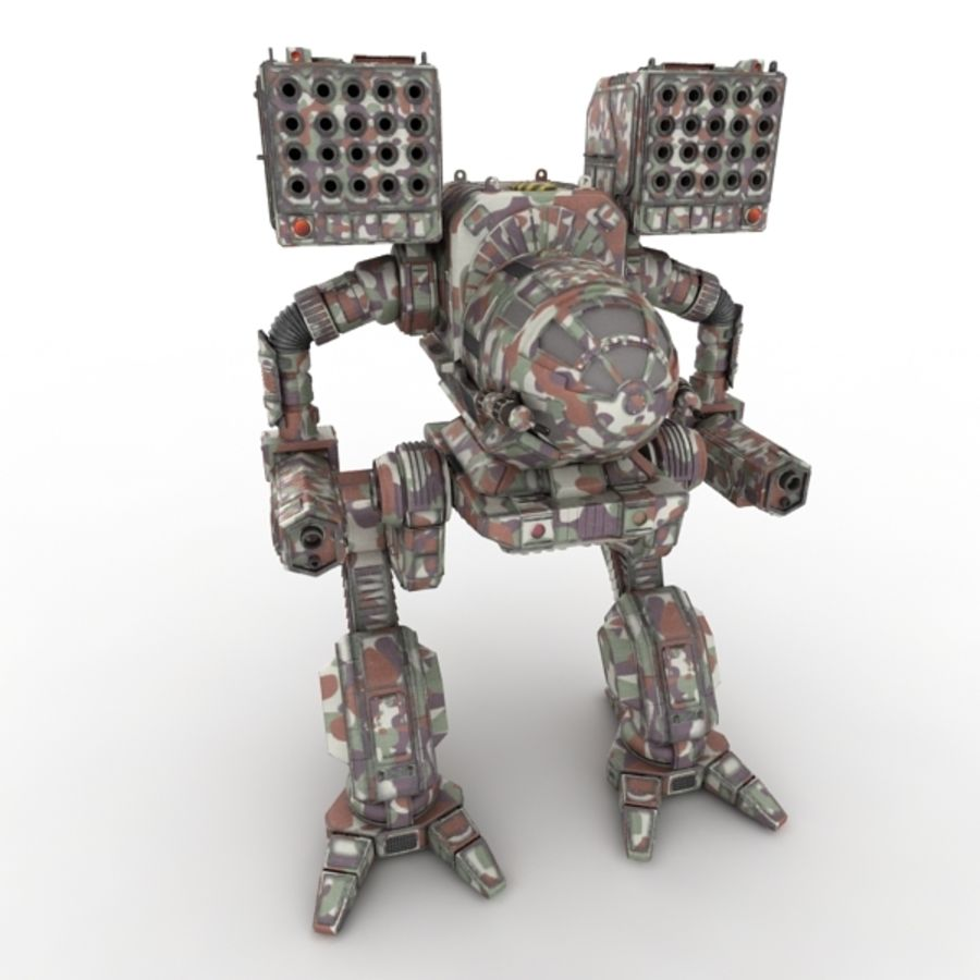 Army Mech Worrior Robot V5 royalty-free 3d model - Preview no. 1