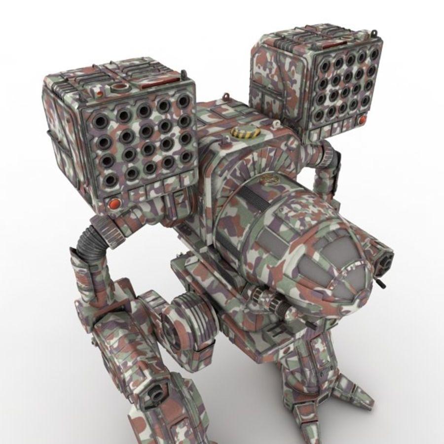 Army Mech Worrior Robot V5 royalty-free 3d model - Preview no. 5