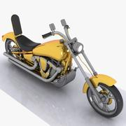 Cartoon Motorcycle 3 3d model