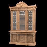 고전적인 골동품 방 책장 3d model