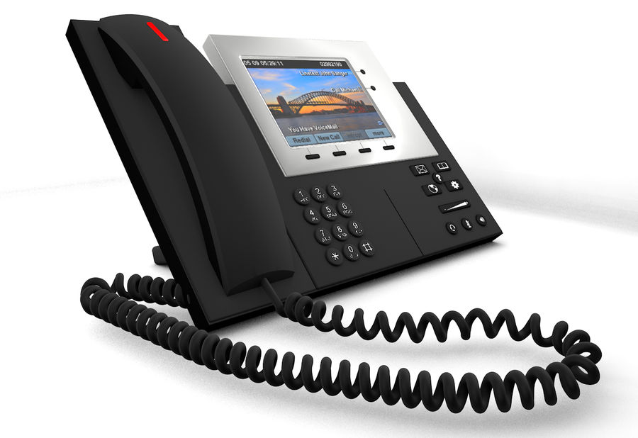 Telefone IP da Cisco royalty-free 3d model - Preview no. 1